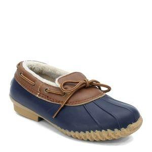 JBU by Jambu Gwen Duck Shoes Vegan Loafer Navy 9.5